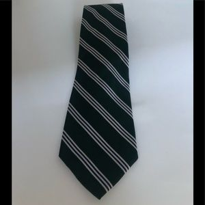 Brooks Brothers tie hunter green striped